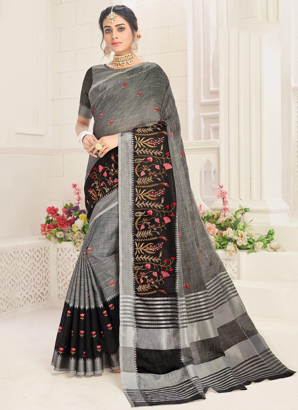 Linen Festival Classic Designer Saree