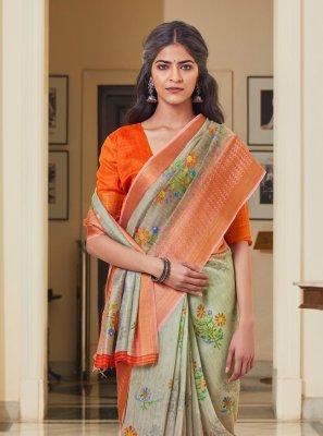 Linen Festival Traditional Saree