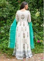Linen Off White and Rama Readymade Suit
