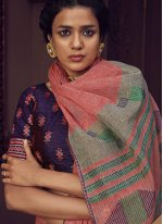 Linen Pink Trendy Saree