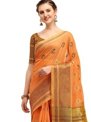 Linen Print Classic Saree