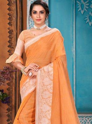 Linen Reception Designer Traditional Saree