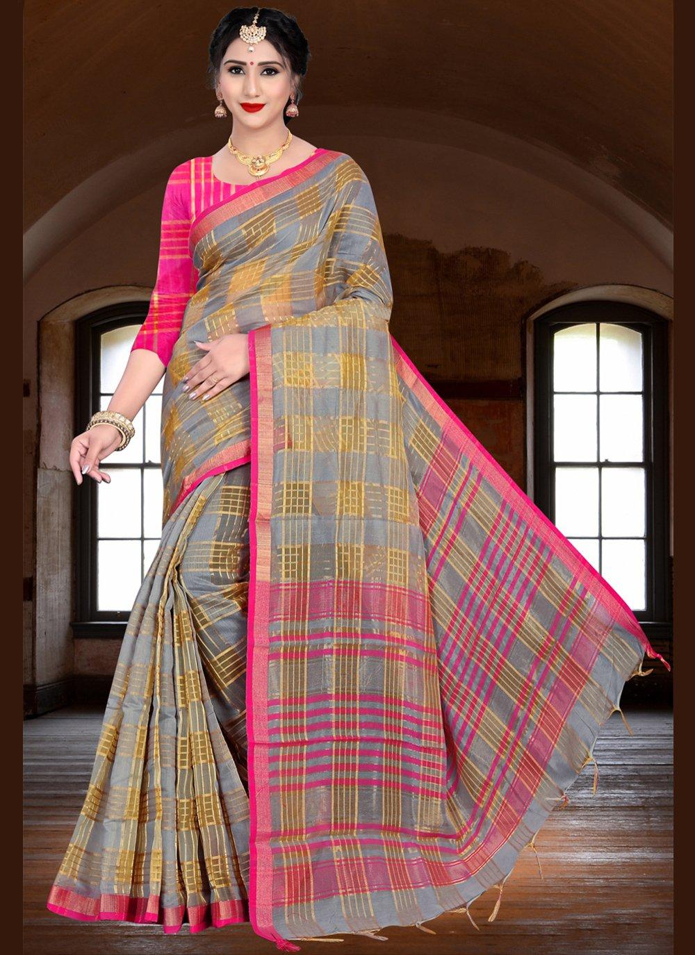 Linen Woven Saree