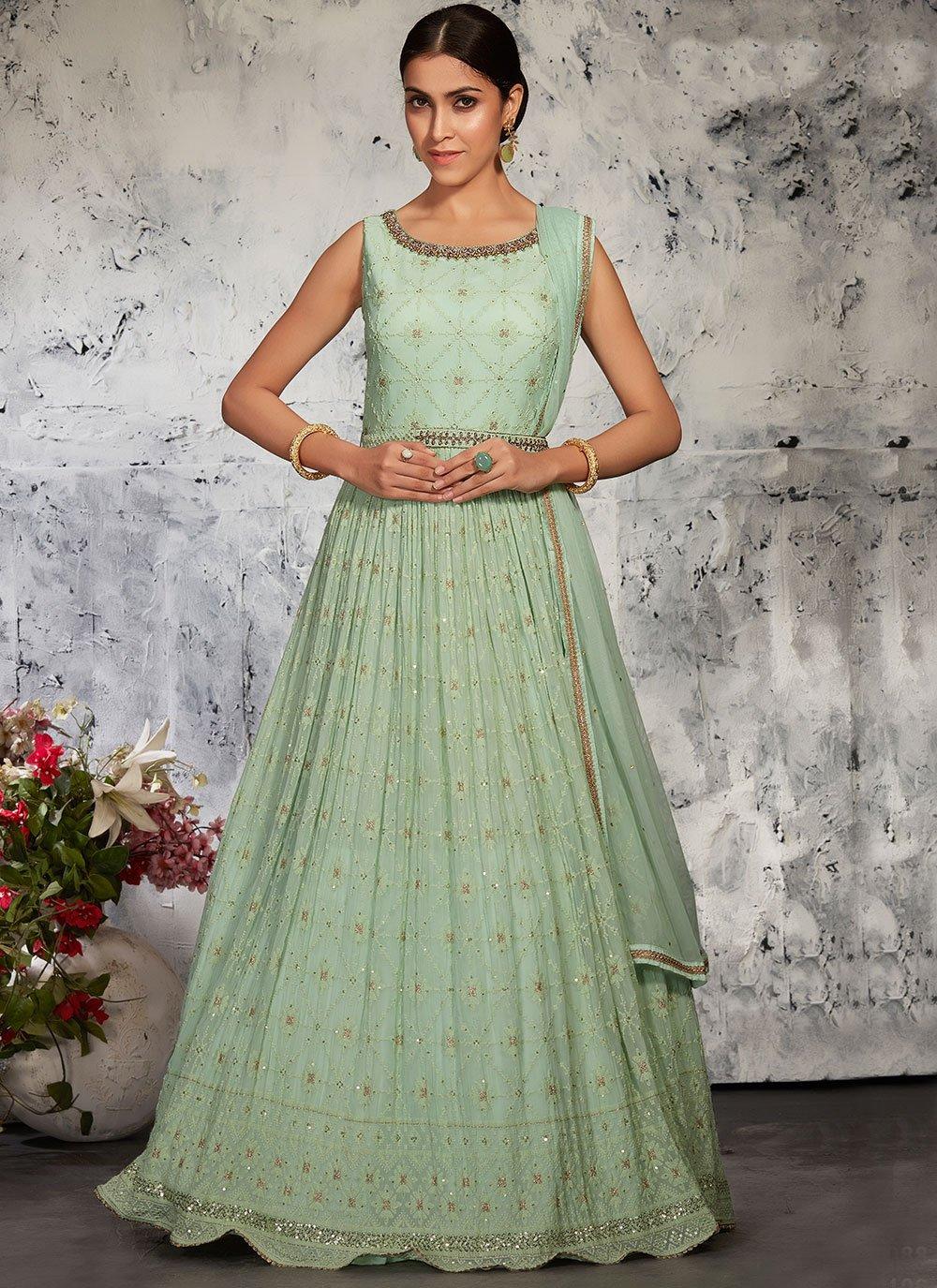Lucknowi Floor Length Anarkali Suit