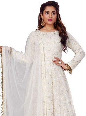 Lucknowi work Viscose Gown