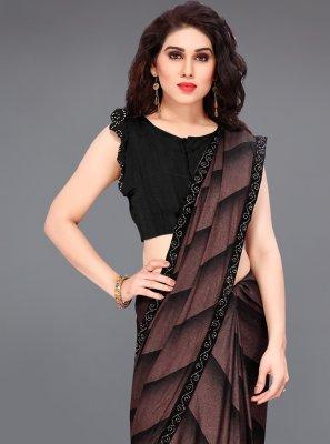 Lycra Black Printed Saree
