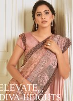 Lycra Engagement Trendy Saree