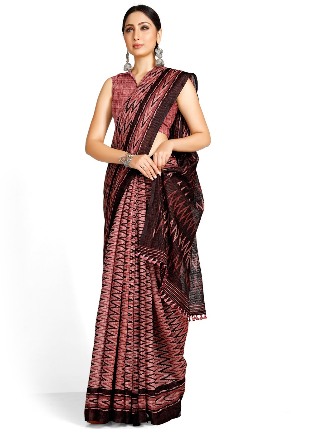 Magenta Casual Blended Cotton Casual Saree
