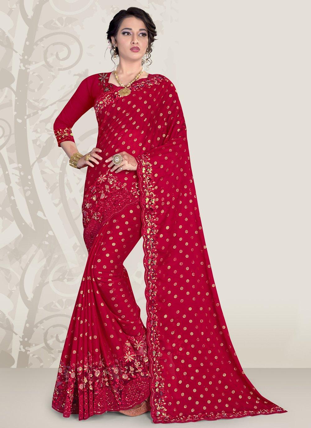 Magenta Color Designer Traditional Saree