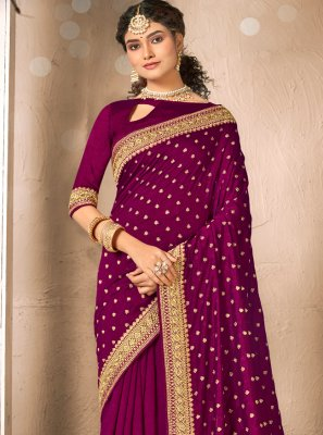 Magenta Color Designer Traditional Saree