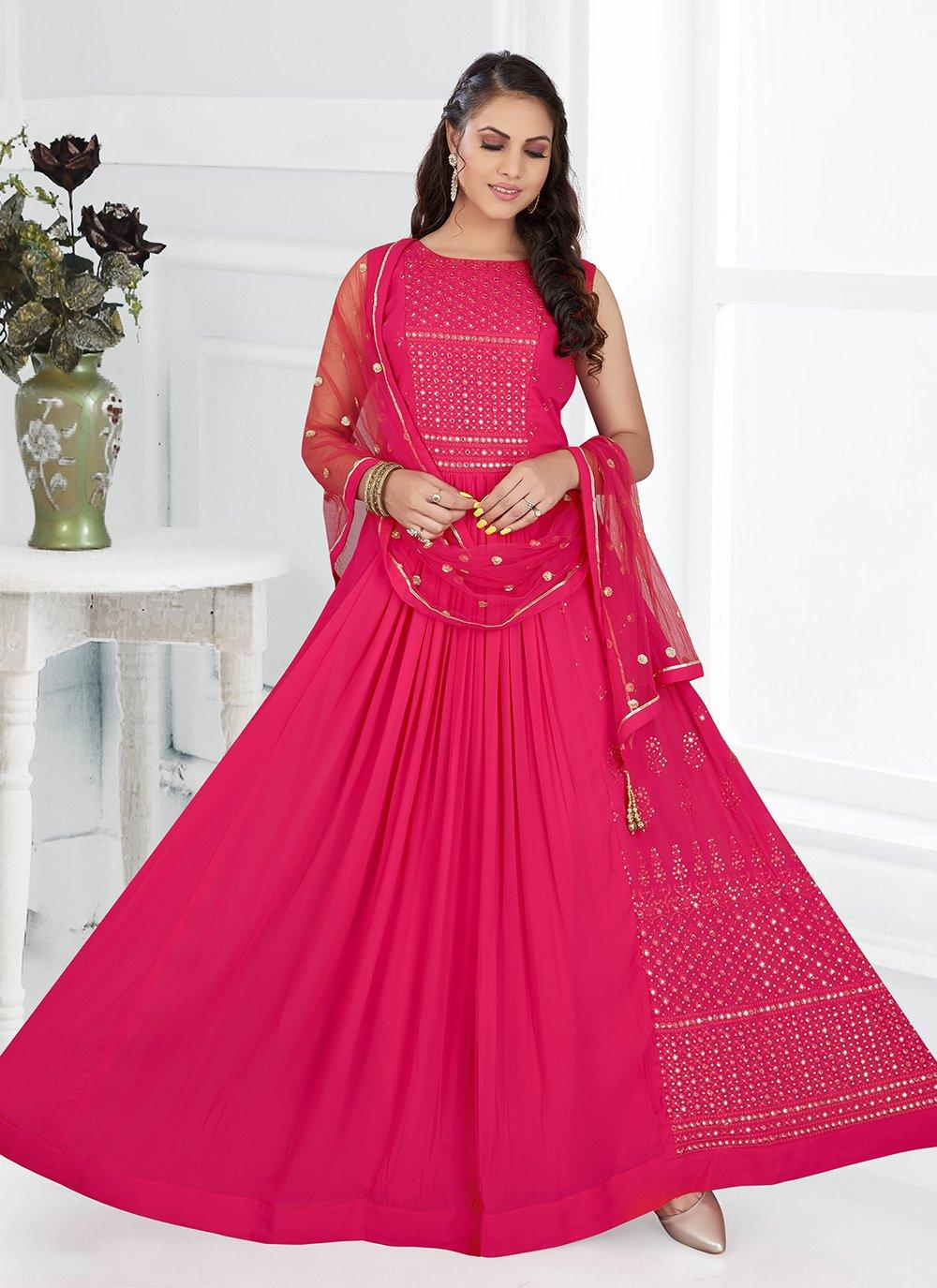 Magenta Color Floor Length Anarkali Salwar Suit