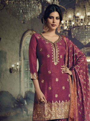 Magenta Festival Designer Pakistani Suit