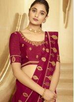 Magenta Festival Designer Traditional Saree