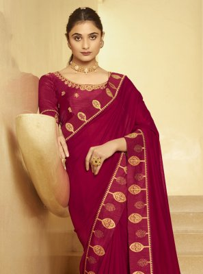 Magenta Festival Designer Traditional Saree