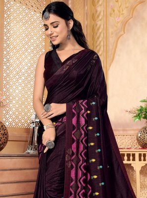 Magenta Festival Silk Bollywood Saree