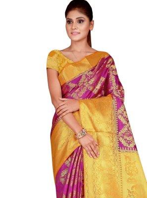 Magenta Festival Silk Designer Traditional Saree