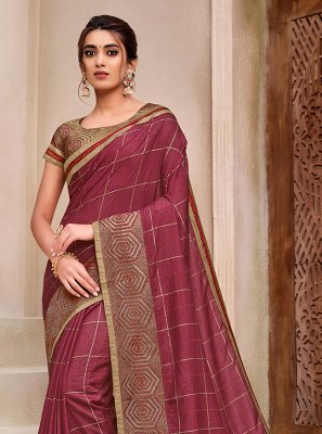 Magenta Festival Traditional Designer Saree