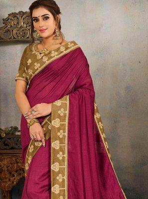 Magenta Traditional Saree