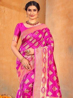 Magenta Weaving Classic Saree