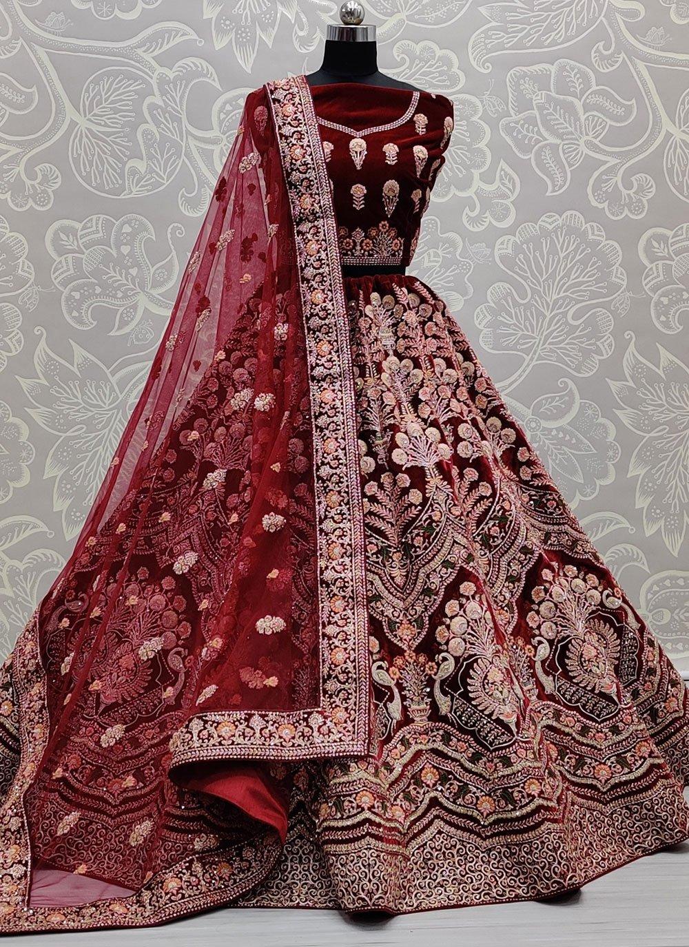 Maroon Color Lehenga Choli