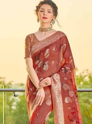 Maroon Fancy Banarasi Silk Designer Traditional Saree
