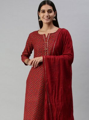 Maroon Fancy Designer Pakistani Salwar Suit
