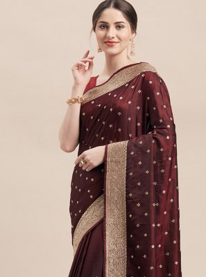 Maroon Festival Designer Traditional Saree