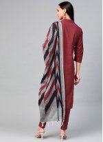 Maroon Festival Readymade Suit