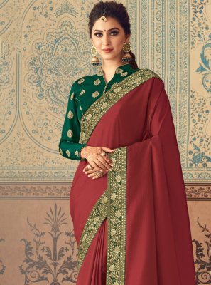 Maroon Festival Traditional Designer Saree
