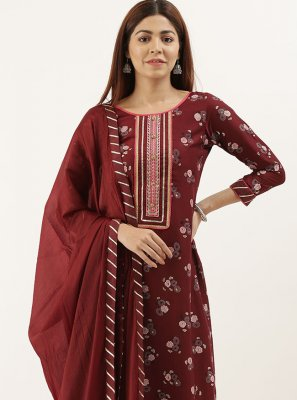 Maroon Party Designer Pakistani Suit
