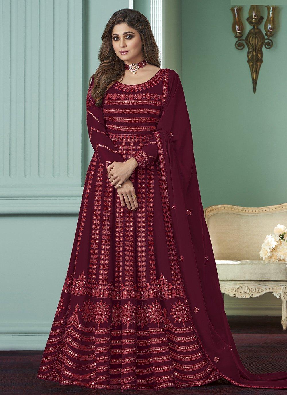 Maroon Salwar Suit