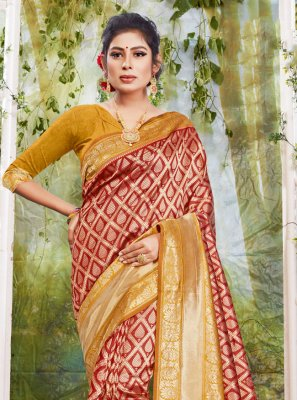 Maroon Traditional Designer Saree
