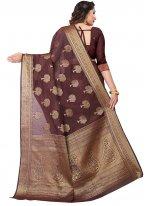 Maroon Weaving Casual Saree