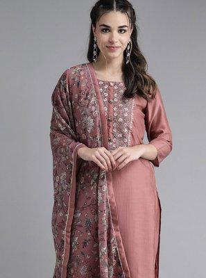 Mauve  Silk Festival Readymade Suit