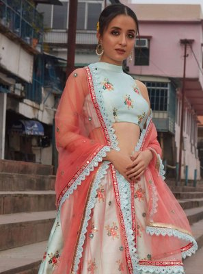 Mirror Art Silk Lehenga Choli