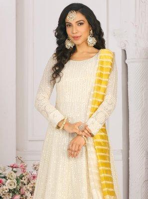 Mirror Georgette Readymade Anarkali Suit