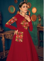 Mirror Red Floor Length Gown