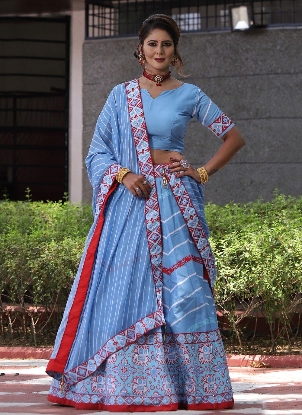 Mirror Silk Lehenga Choli