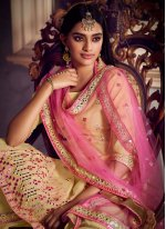 Mirror Yellow Net Designer Pakistani Salwar Suit
