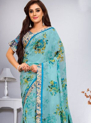 Multi Colour Abstract Print Weight Less Saree