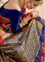 Multi Colour Art Banarasi Silk Festival Traditional Saree