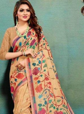 Multi Colour Banarasi Silk Festival Traditional Saree