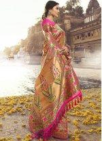 Multi Colour Banarasi Silk Traditional Designer Saree