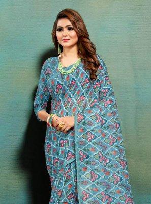 Multi Colour Banarasi Silk Traditional Saree