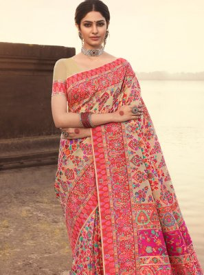 Multi Colour Banarasi Silk Weaving Designer Traditional Saree