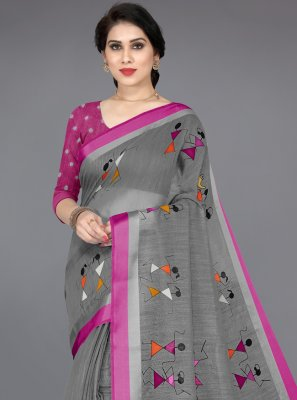 Multi Colour Casual Cotton Printed Saree