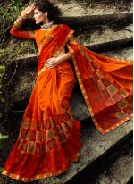 Multi Colour Casual Faux Georgette Printed Saree