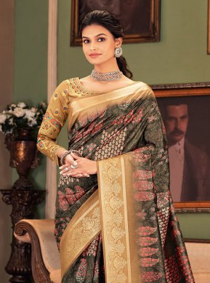 Multi Colour Ceremonial Designer Traditional Saree