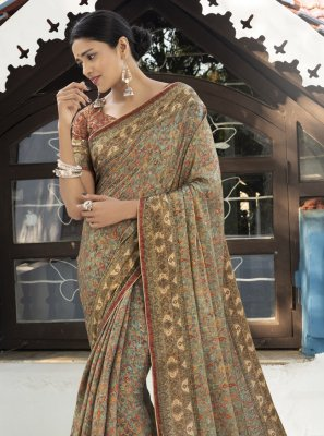 Multi Colour Ceremonial Silk Traditional Saree