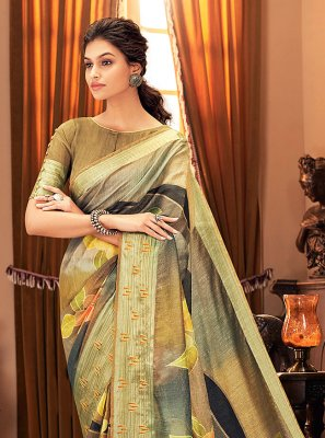 Multi Colour Ceremonial Traditional Saree